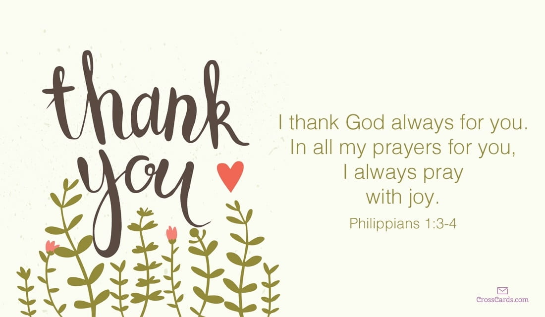 I Thank God Always for You ecard, online card