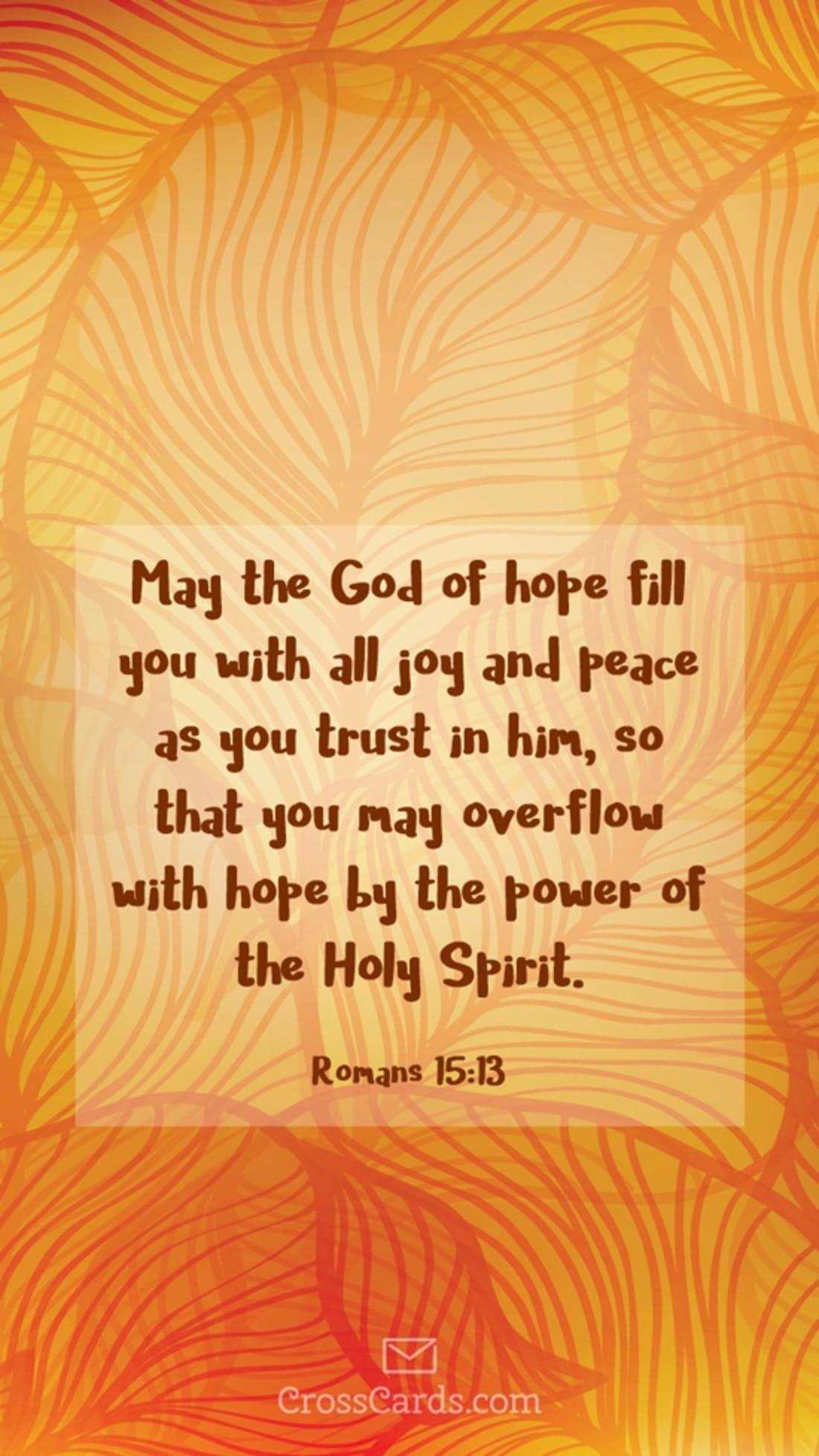 Romans 15:13 mobile phone wallpaper