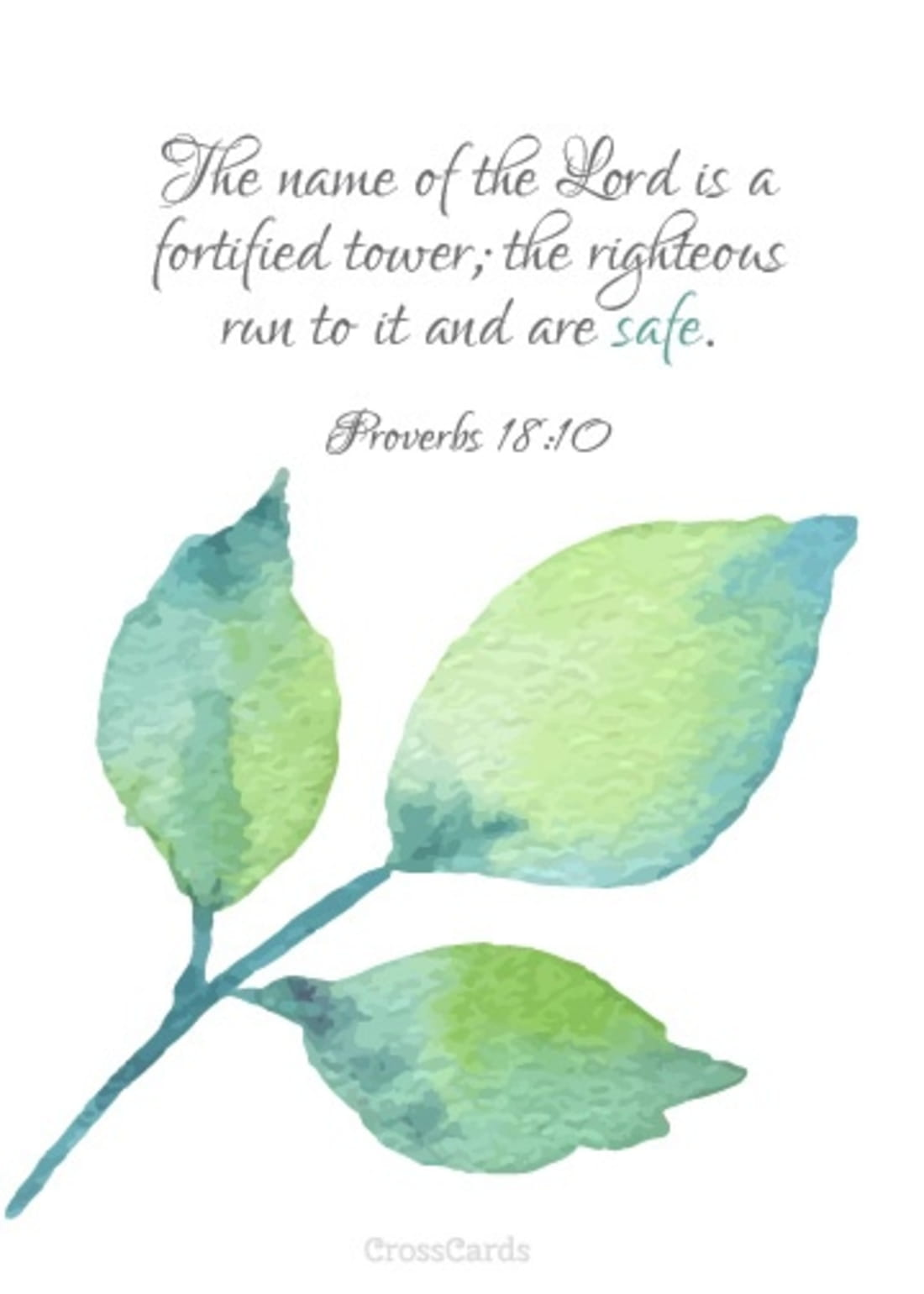 The Name of the Lord is a Fortified Tower