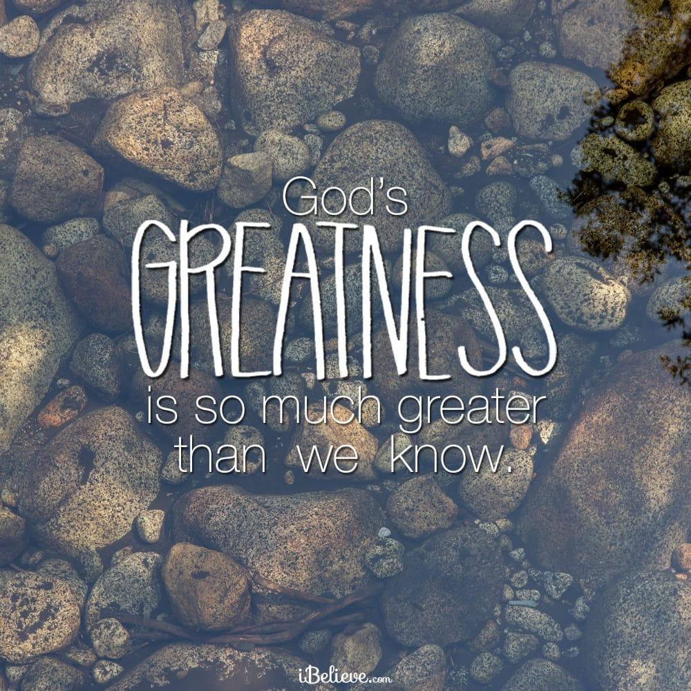 Gods-greatness
