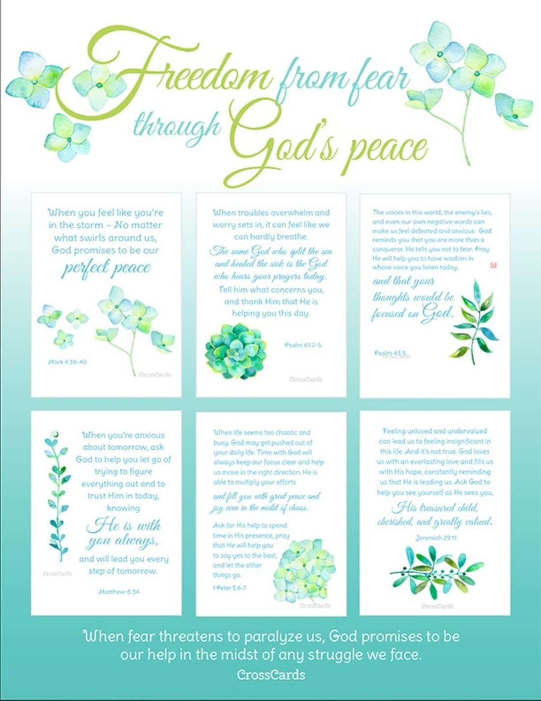 Reminders of God's Peace When You're Facing the Storm - Free Printable