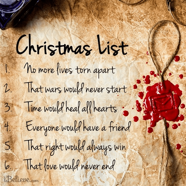 my christmas list - My Christmas List