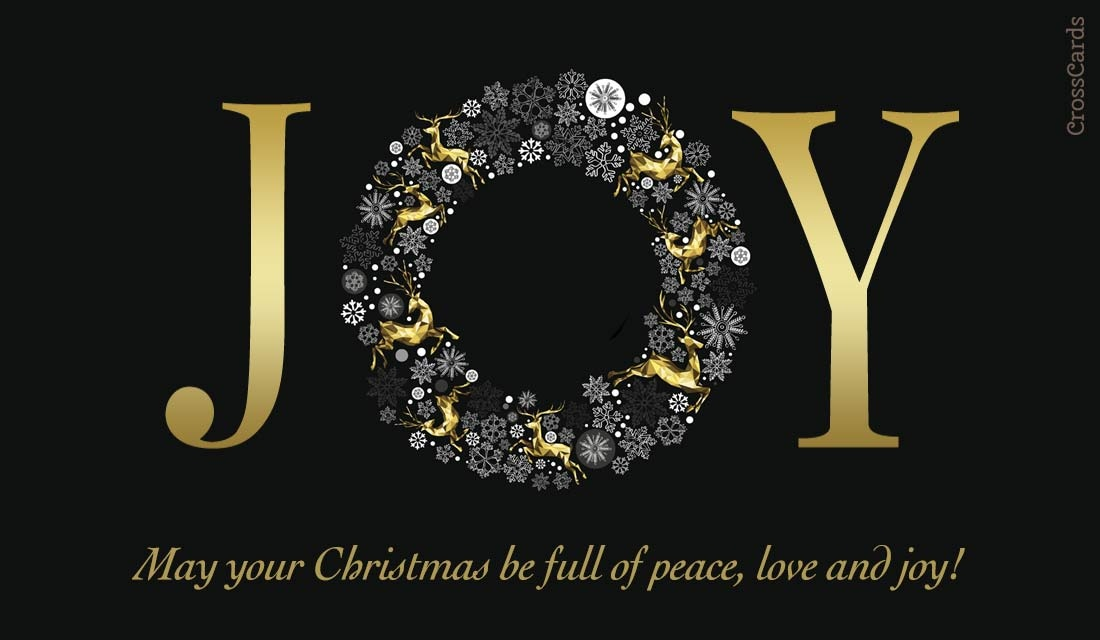Christmas Joy ecard, online card