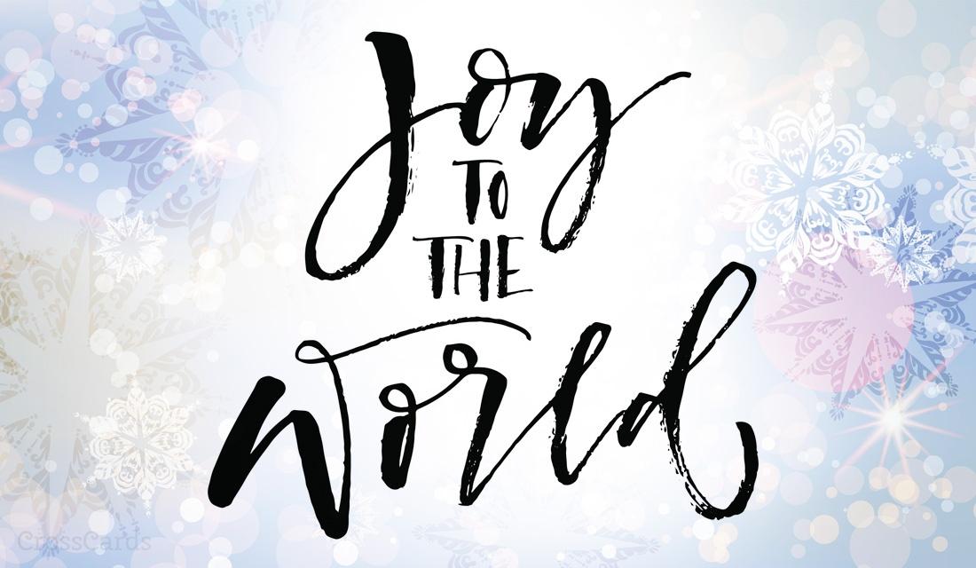 Joy to the World! ecard, online card