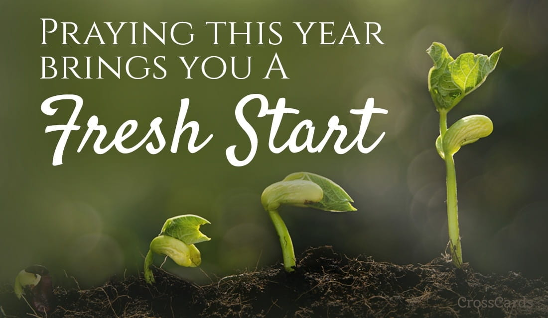 A Fresh Start for the New Year ecard, online card