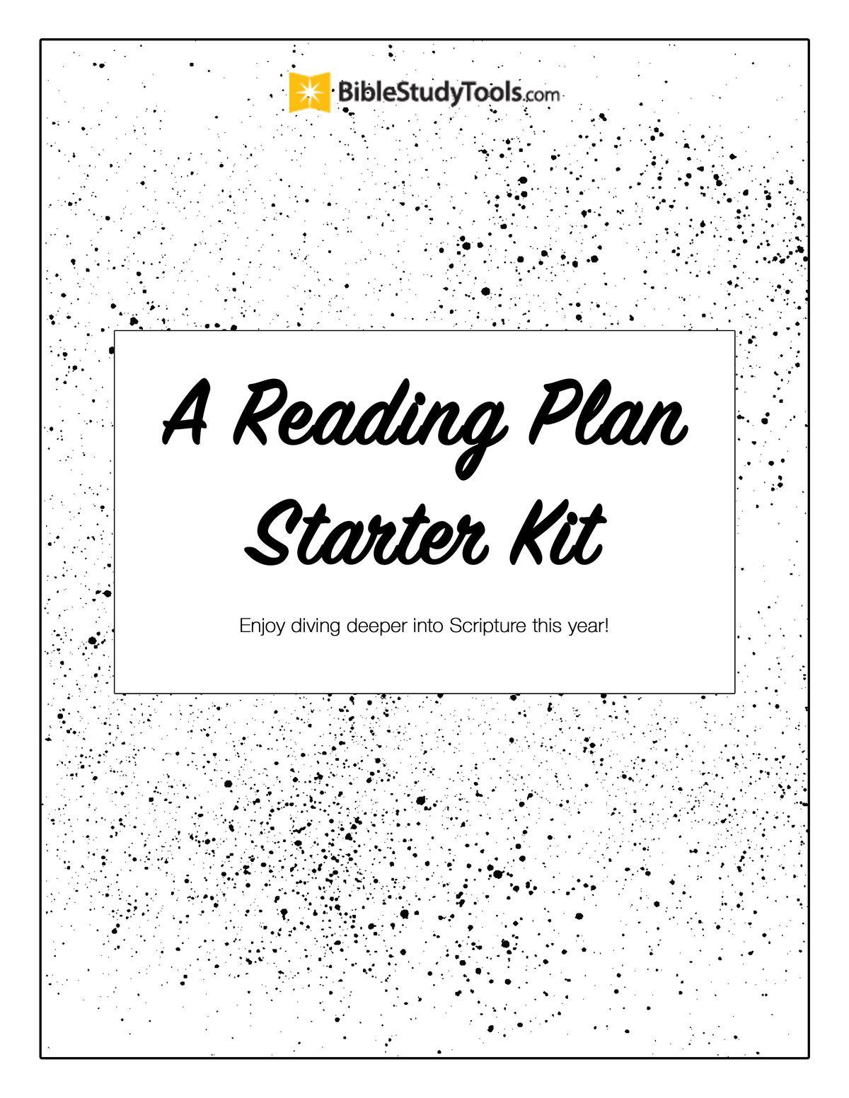 A Reading Plan Starter Kit