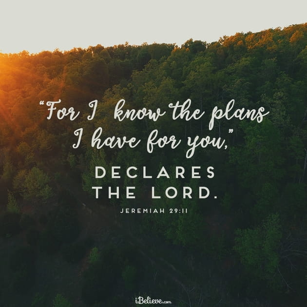 Your Daily Verse - Jeremiah 29:11