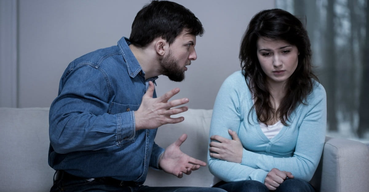 3. Blaming or making you responsible for his problems.