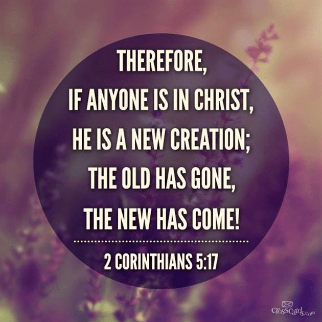 Your Daily Verse - 2 Corinthians 5:17