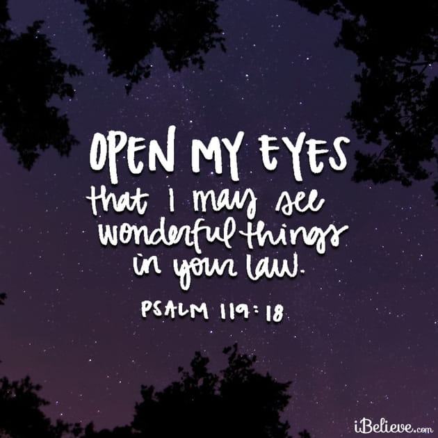 Your Daily Verse - Psalm 119:18
