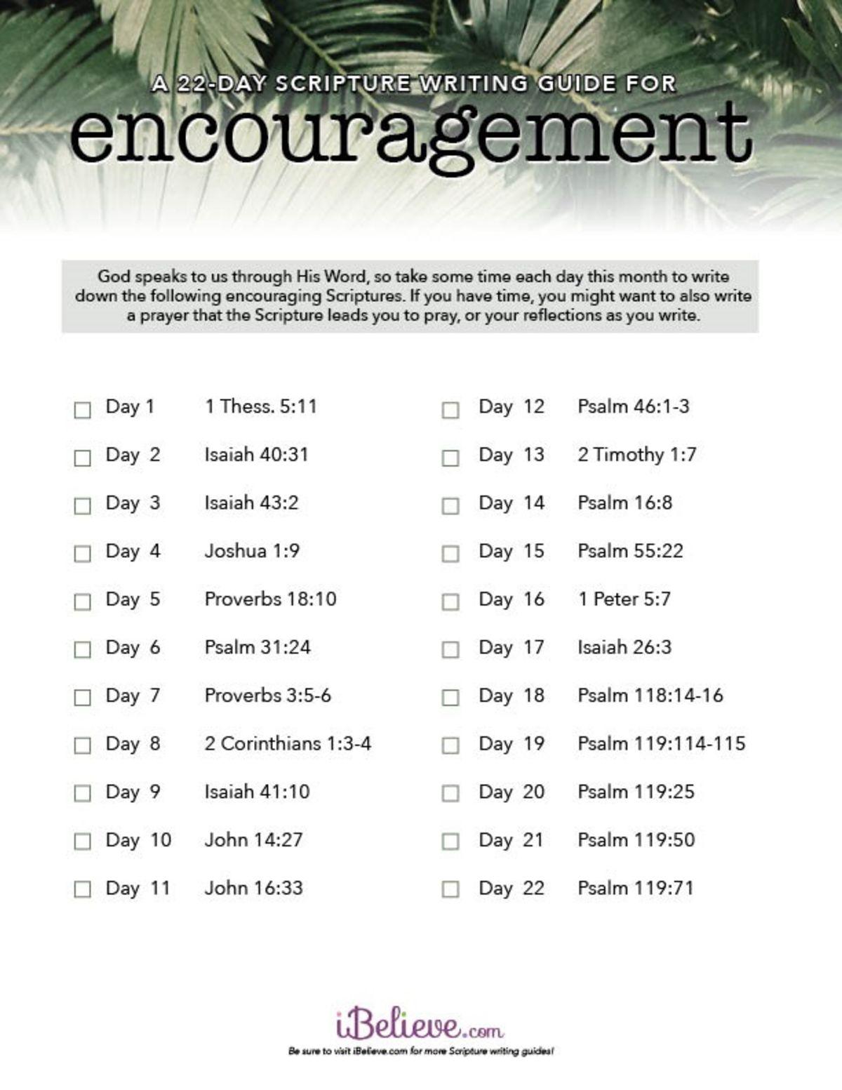 Encouragement Scripture Writing Guide