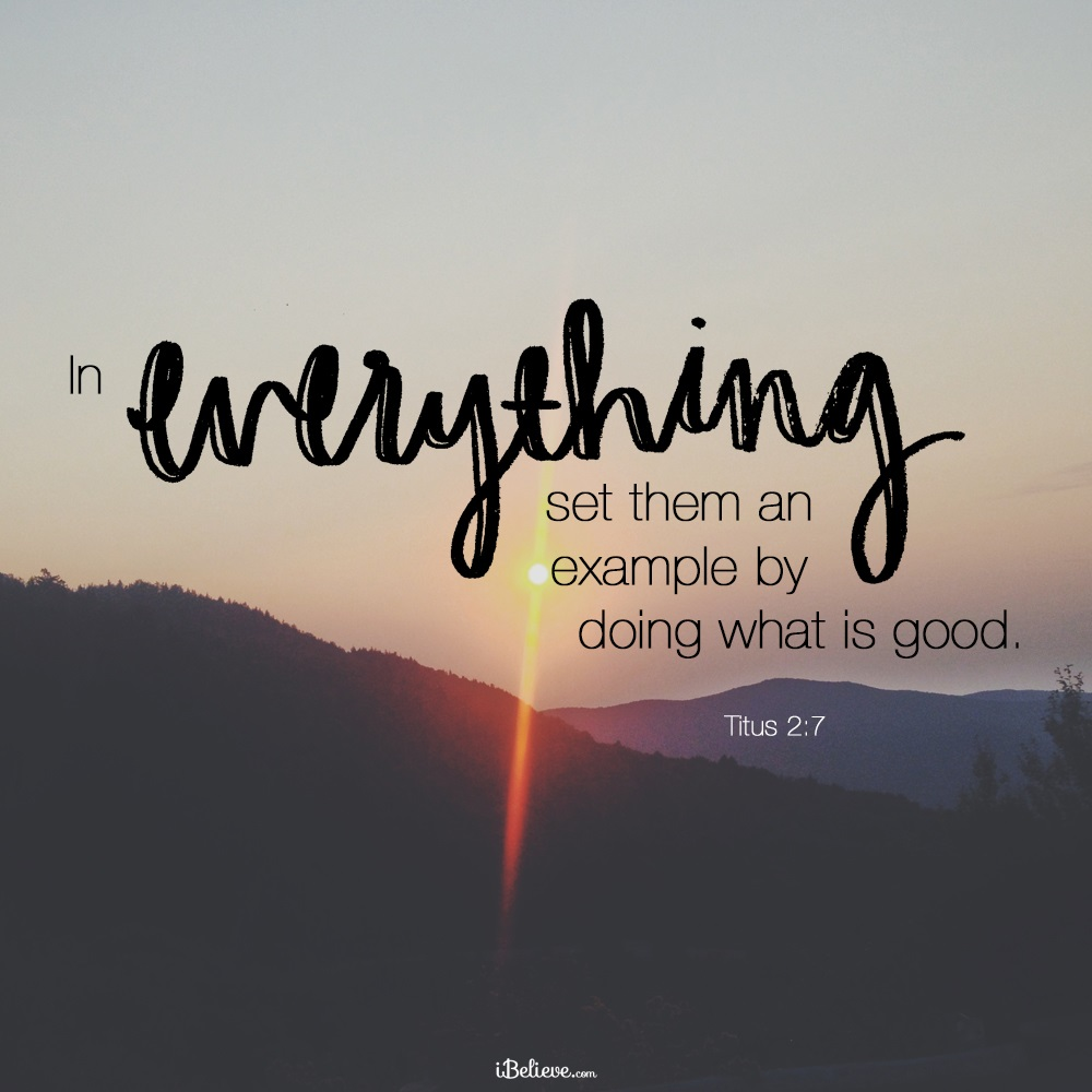 Your Daily Verse - Titus 2:7