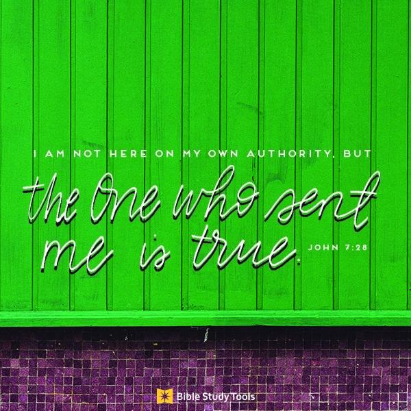 Your Daily Verse - John 7:28