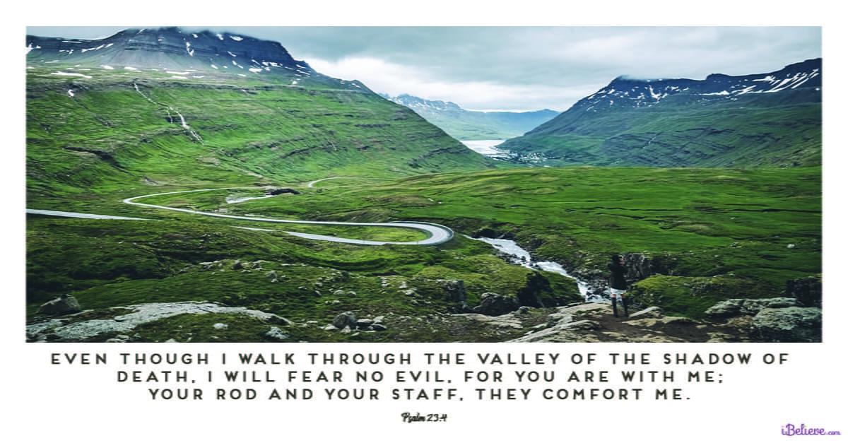 psalm-23-4 fear no evil bible verse