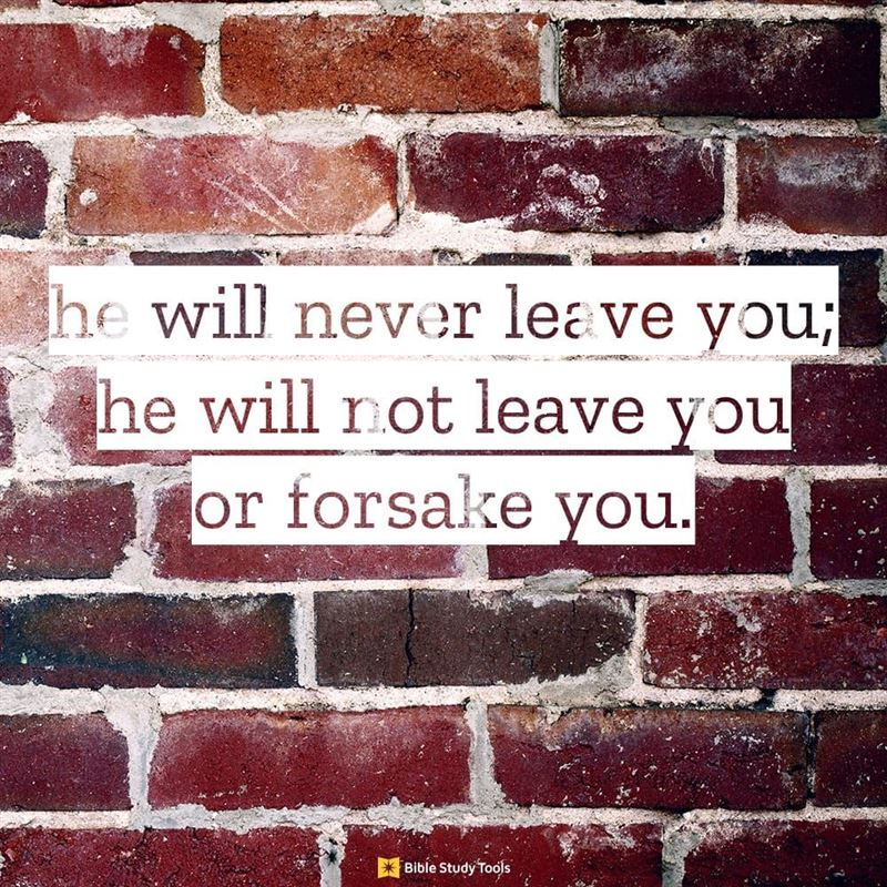 deuteronomy the lord himself goes before you and will be wi