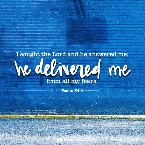 Your Daily Verse - Psalm 34:4