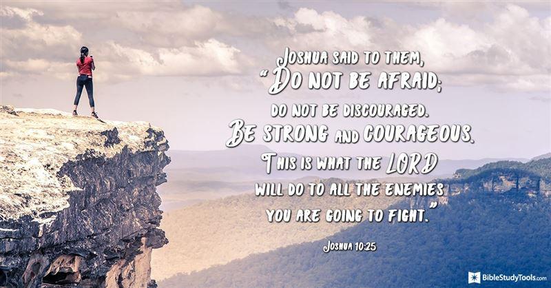 Your Daily Verse - Joshua 10:25