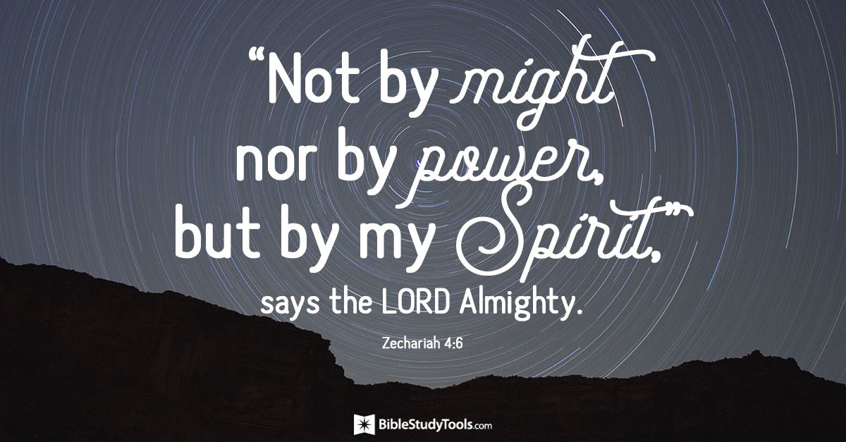 Your Daily Verse - Zechariah 4:6