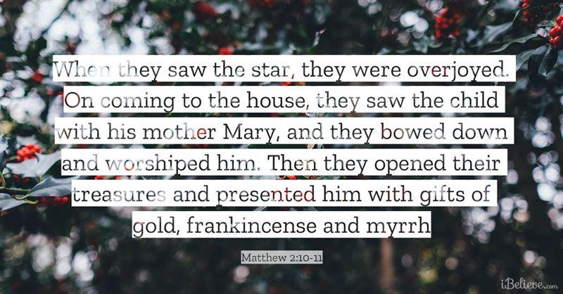 Matthew 2:10-11