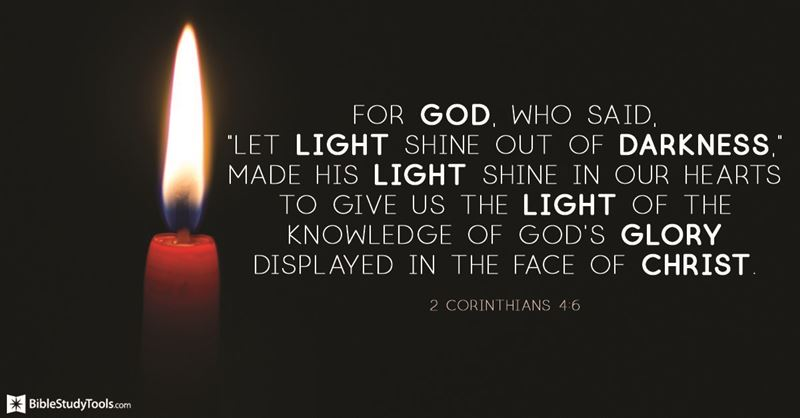 Your Daily Verse - 2 Corinthians 4:6