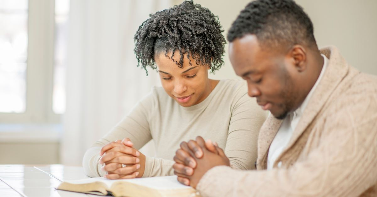 african american couple praying together, what your marriage needs