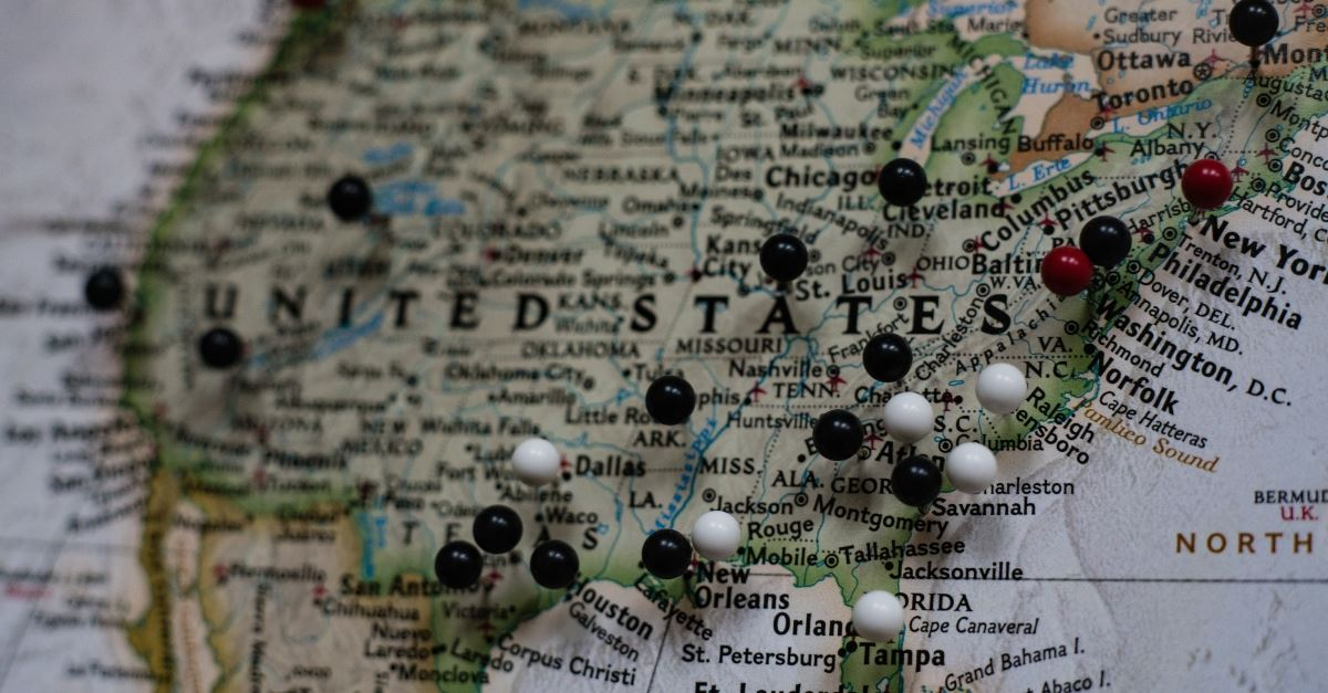 maps of usa with pins