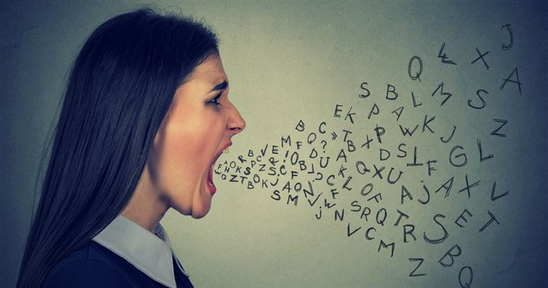 woman cursing swearing sin