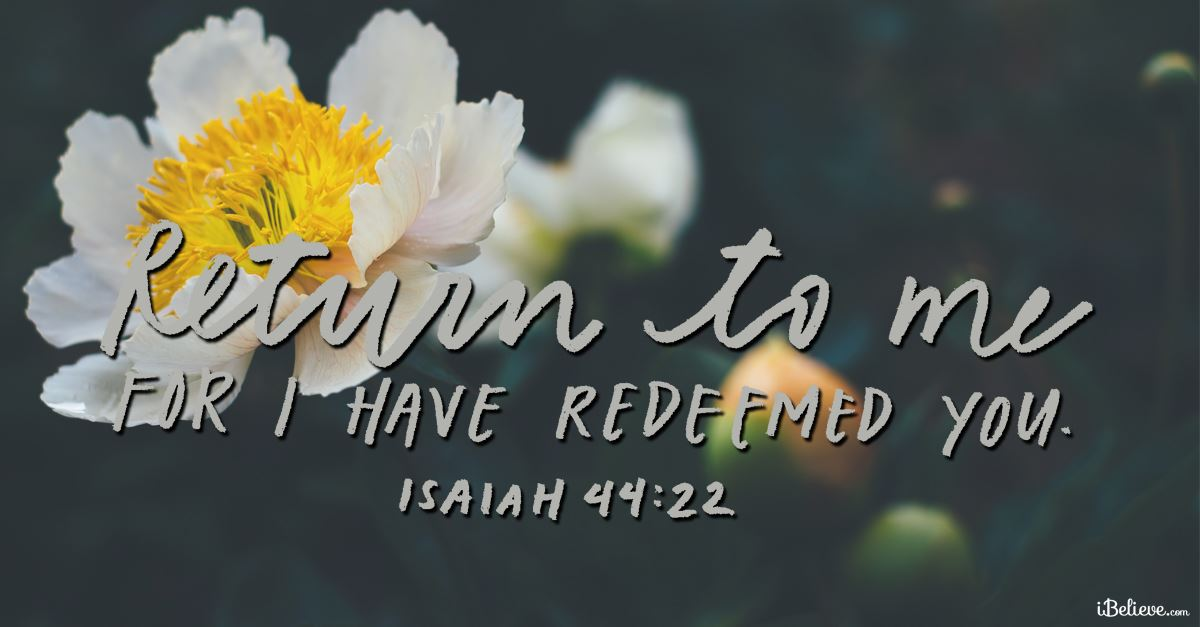 Your Daily Verse - Isaiah 44:22