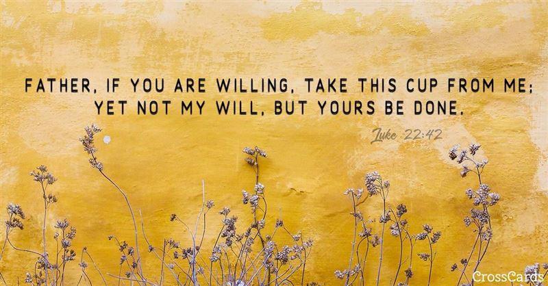 Your Daily Verse - Luke 22:42