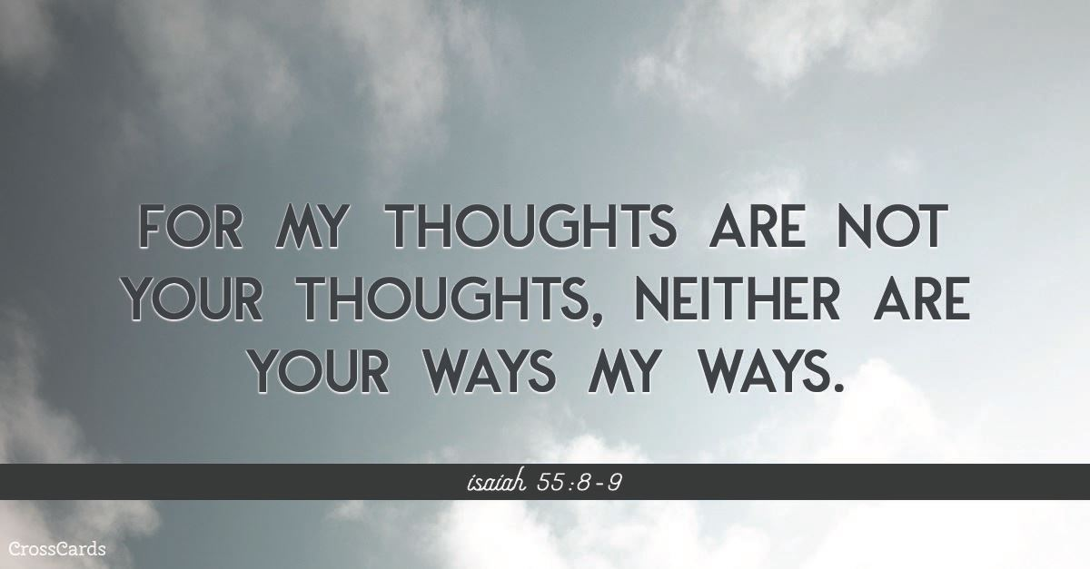 Your Daily Verse - Isaiah 55:8-9