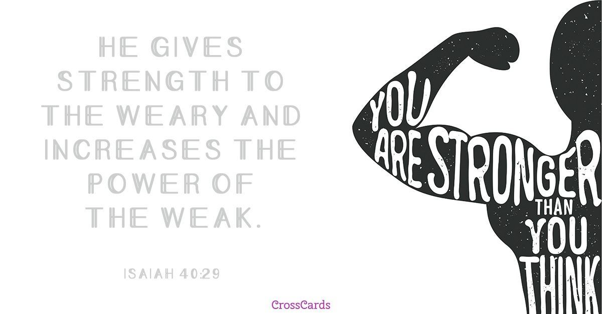 Your Daily Verse - Isaiah 40:29