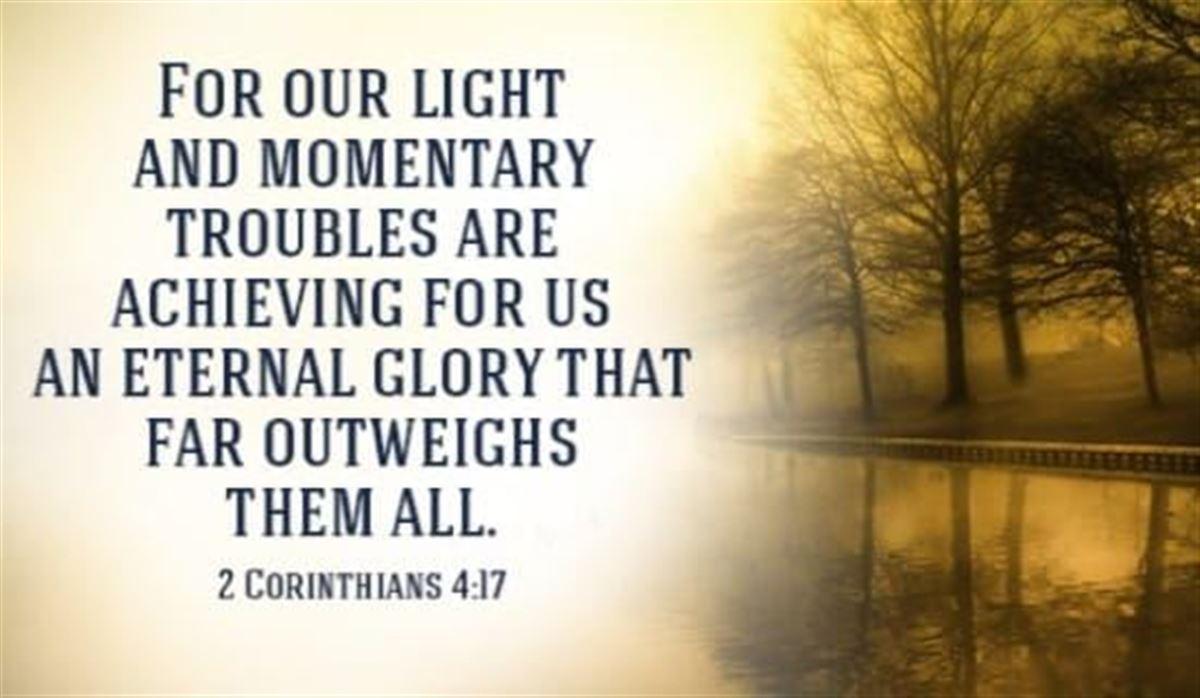 Your Daily Verse - 2 Corinthians 4:17