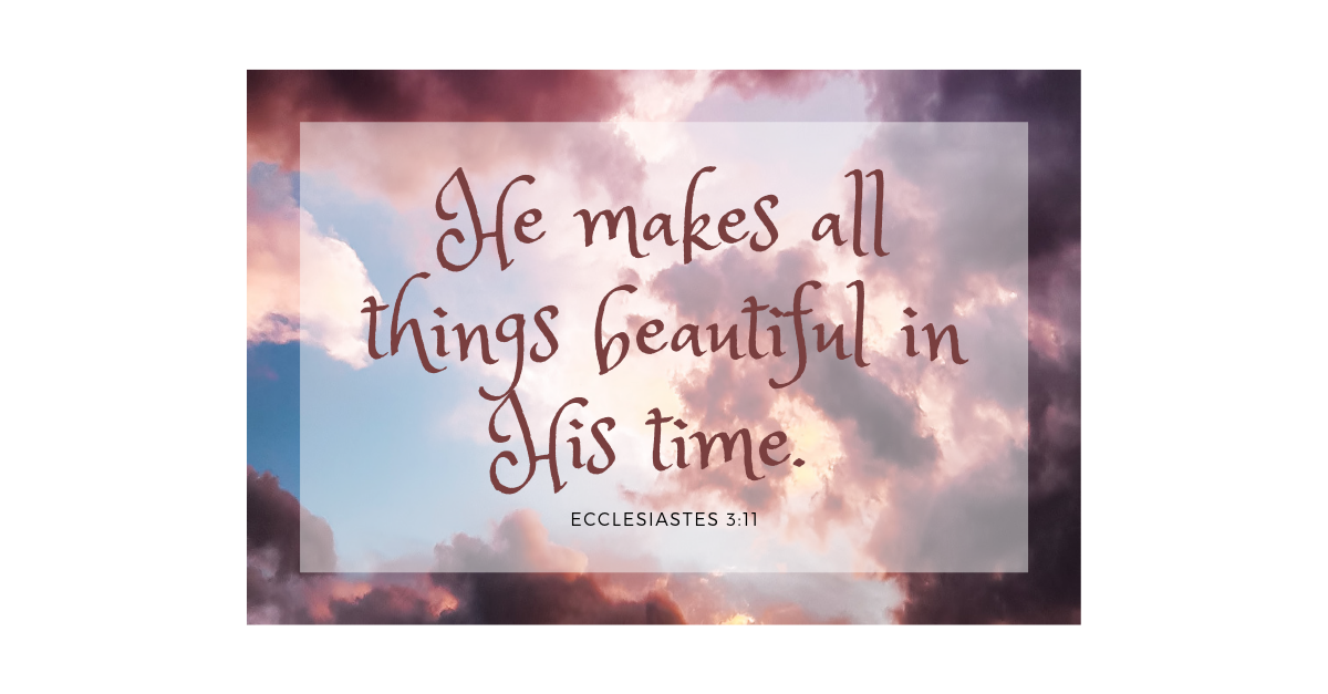 Your Daily Verse - Ecclesiastes 3:11