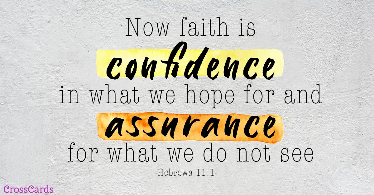 Your Daily Verse - Hebrews 11:1