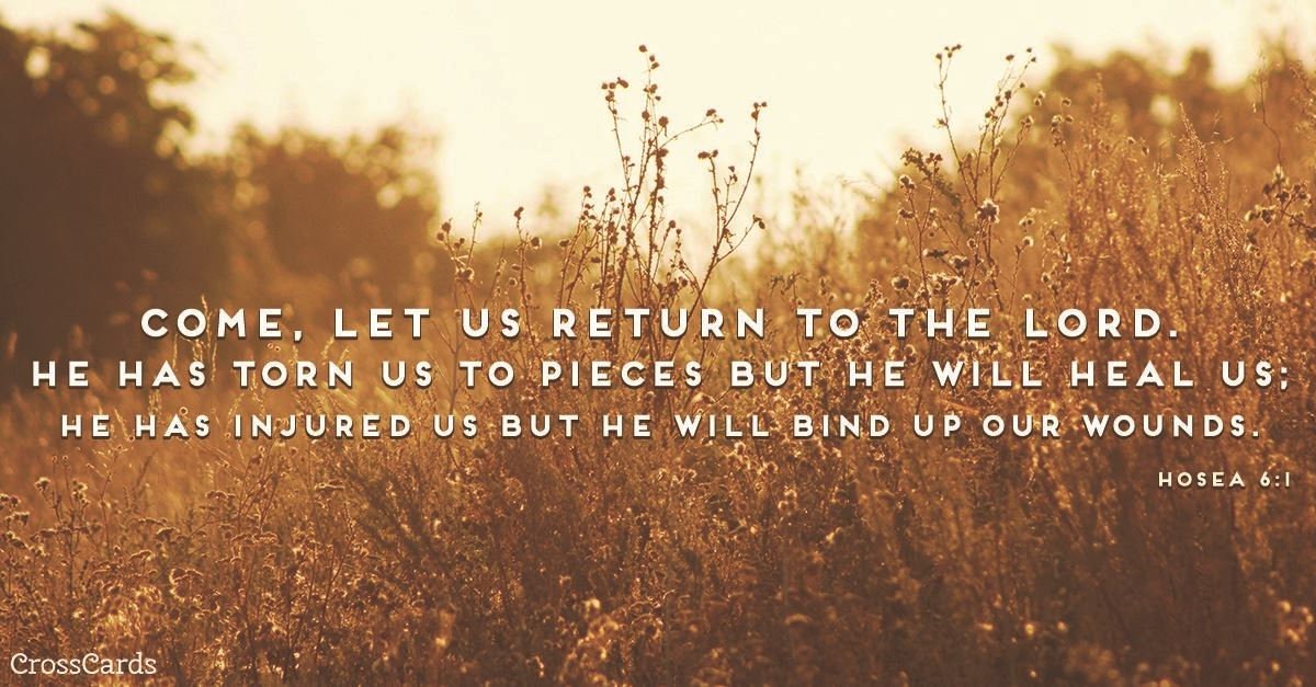 Your Daily Verse - Hosea 6:1