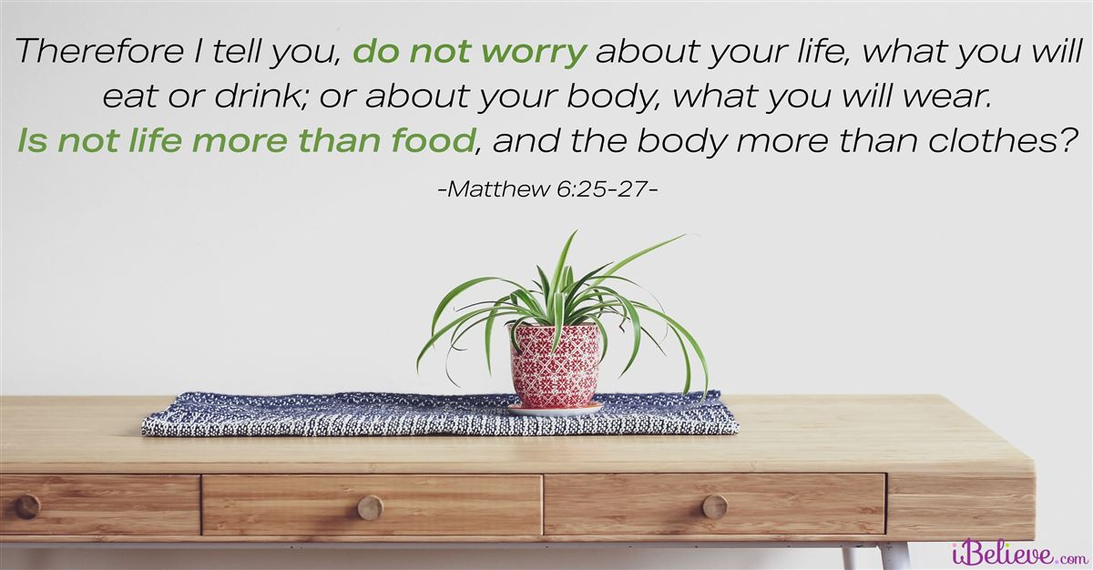 Your Daily Verse - Matthew 6:25-27