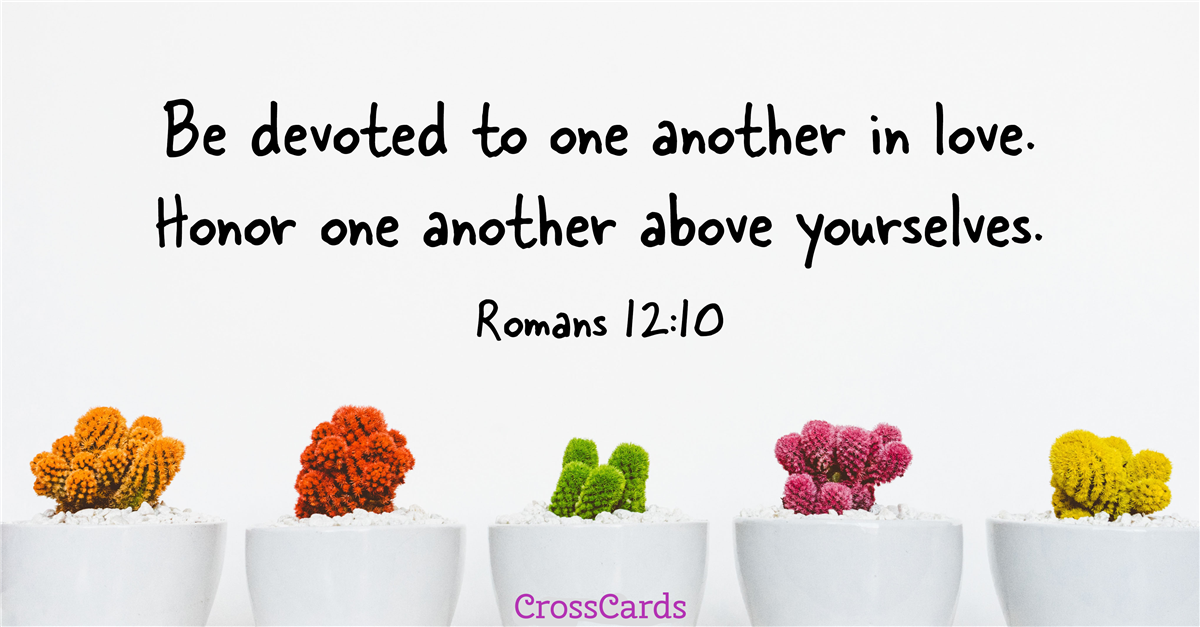 Your Daily Verse - Romans 12:10