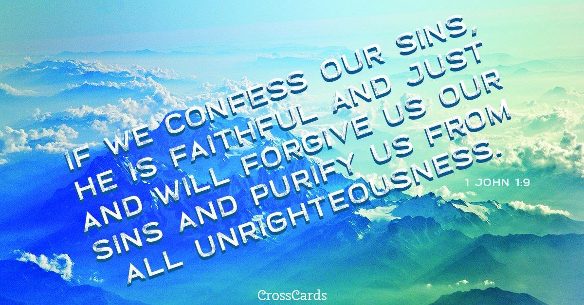 Your Daily Verse - 1 John 1:9