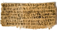 "Scholars Say ""Gospel of Jesus's Wife"" Probably a Fake"