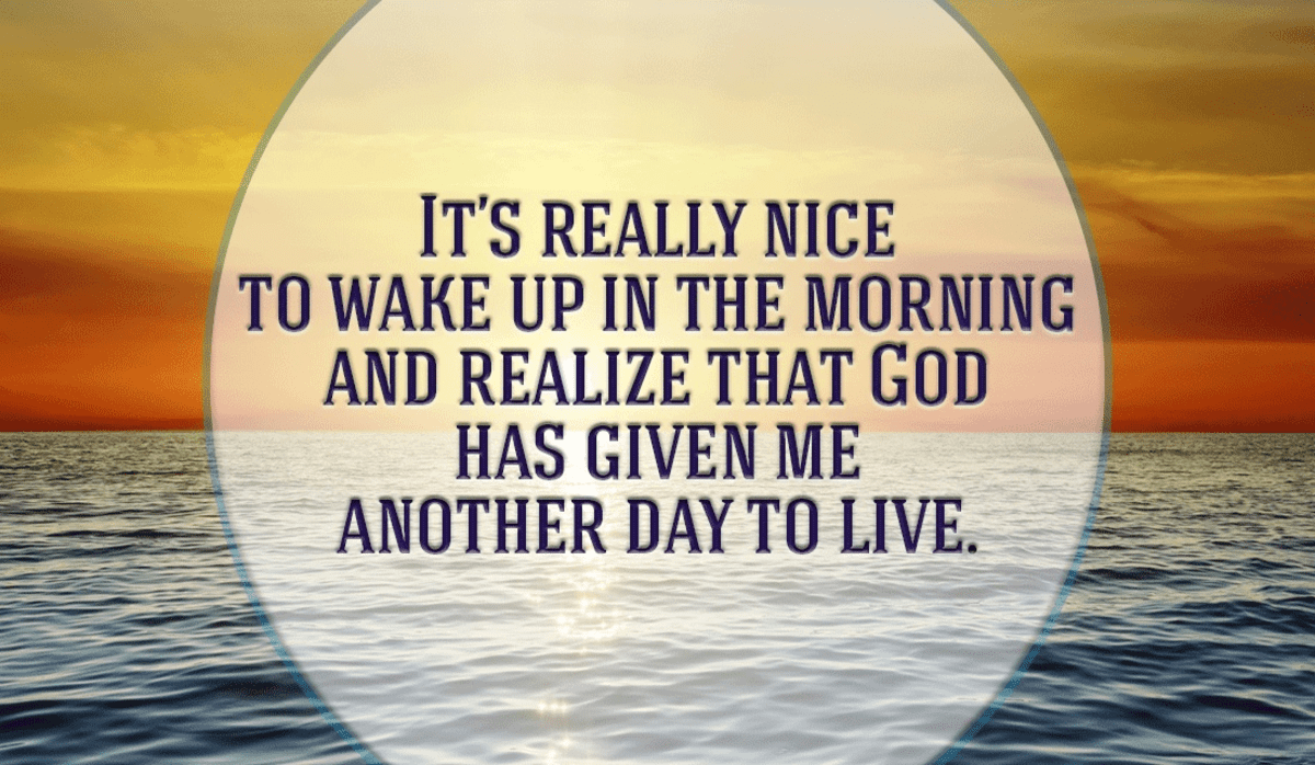 Thank You God for This Wonderful Day You Have Given Me!