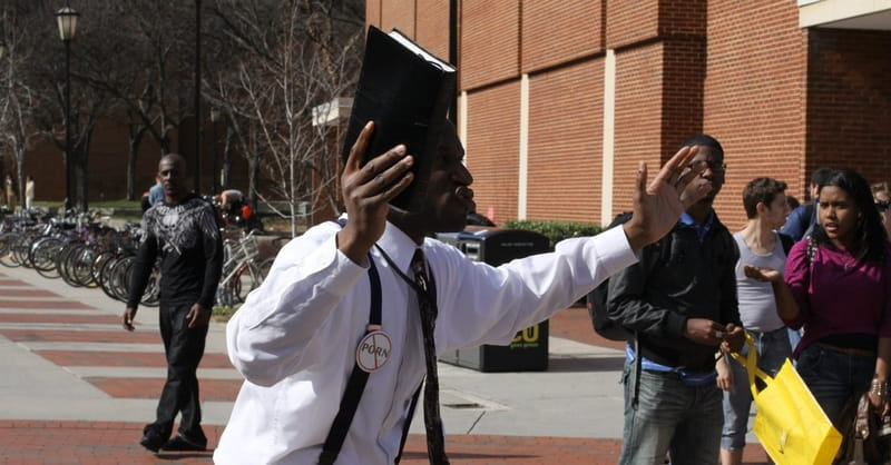 Christian College Student Fired from College Newspaper for Giving Street Preachers Food and Drink