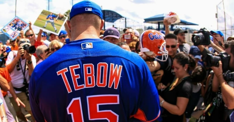 more photos 487fc eec6e NY Mets Invite Tim Tebow to Spring Training: Is He One Step ...