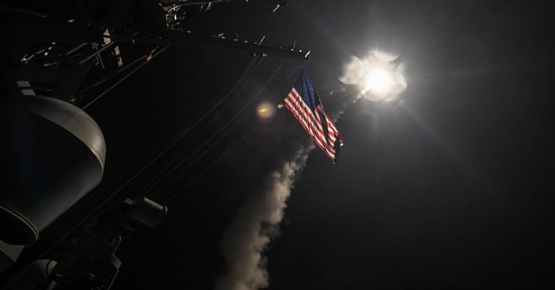U.S. Launches Missile Strikes against Syrian Airbase