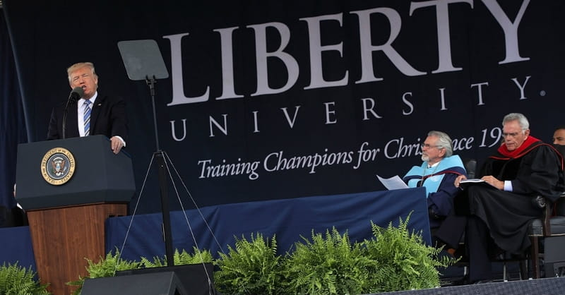 President Trump at Liberty University Commencement: 'In America, We Don't Worship Government, We Worship God'