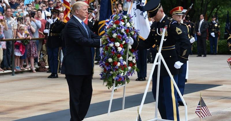 In Memorial Day Address, President Trump Calls Fallen Heroes 'Angels Sent to Us by God'