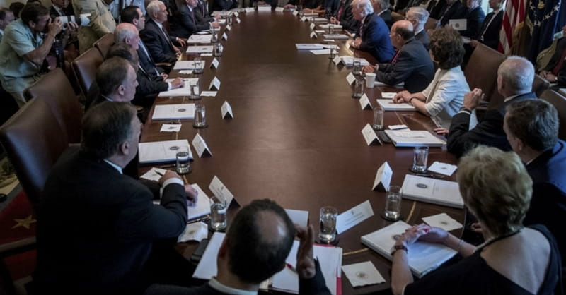 Cabinet Members Study Bible Together Weekly