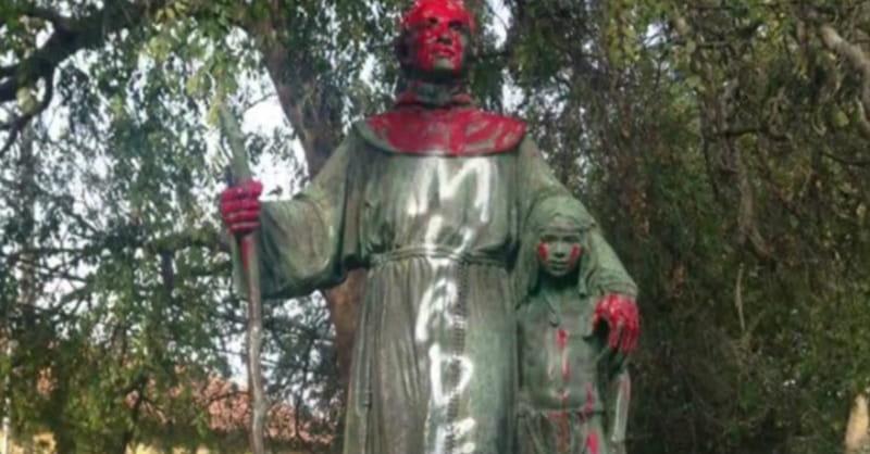Saint's Statue Defaced amid Confederate Monuments Debate