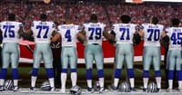 Dallas Cowboys Kneel, Then Stand for Anthem