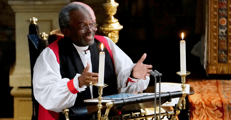 Newly Famous, Bishop Michael Curry Walks Fine Line in Political Fray