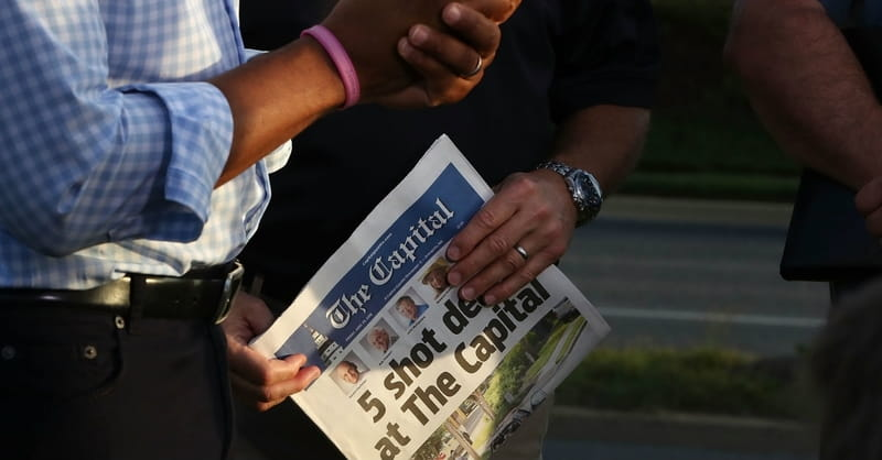 5 People Slain in Shooting at Office of Capital Gazette Newspaper in Annapolis, MD